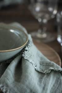 Bilde av Serviett i stoff, dobbeltvevd dusty green